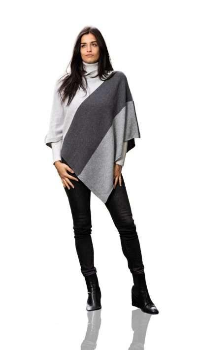 Poncho bicolore - Aosta Cashmere - Moda & Moda