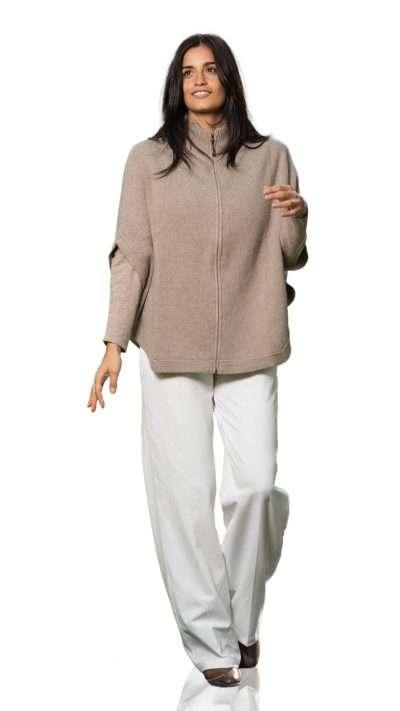 Poncho zip - Aosta Cashmere - Moda & Moda